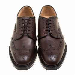 Church's Ebony Brown Brogue Leather Grafton Derby Size 44