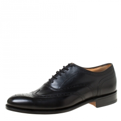Church's Black Leather Chetwynd Brogue Lace-Up Oxfords Size 41