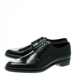 Dior Black Leather Lace Up Derby Size 42