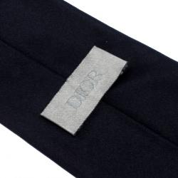 Dior Midnight Blue Classic Silk Tie