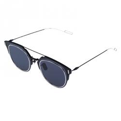 Dior Homme Matte Black /Blue Dior Composit 1.0 Square Sunglasses