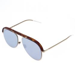 Dior Brown/Dark Mirror Desertie Aviator Sunglasses