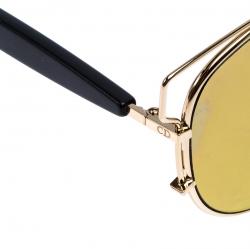 Dior Gold Mirror RHL83 Technologic Sunglasses