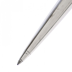 Dior White Ceramic Embellished Silver Tone Ballpoint Pen