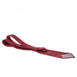 Dior Vintage Red Chequered Jacquard Silk Tie