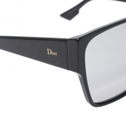 Dior Homme Black / Grey Mirrored Gradient 8070T Dior Hit Square Sunglasses