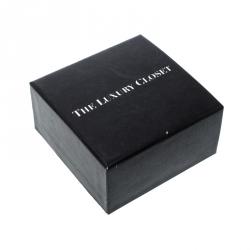 Dior Homme Palladium Plated Black Lacquer Logo Cufflinks