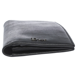 Dior Black Leather Bifold Wallet