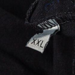 Dior Homme Midnight Blue Logo Printed Cotton Crewneck T-Shirt XS