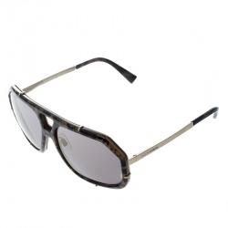 Dolce and Gabbana Green Camo/Bronze Mirror DG 2167 Aviator Sunglasses