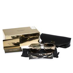 Dolce & Gabbana Gold/Brown DG2166 Sunglasses