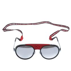Dolce & Gabbana Gunmetal/Mirrored Silver DG2210 Madison DG Cup Collection Sunglasses