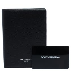 Dolce & Gabbana Black Leather Classic Passport Holder