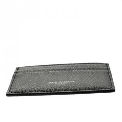 Dolce and Gabbana Black Vitello Leather Card Holder