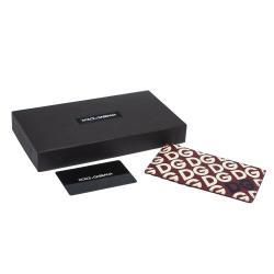 محفظة بطاقات دولتشي أند غابانا دي جي مانيا مطبوعة رأسية متعددة الألوان