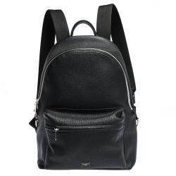حقيبة ظهر دولتشي أند غابانا فولكينو جلد محبب سوداء