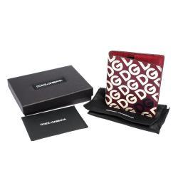 محفظة دولتشي أند غابانا طية مزدوجة جلد طباعة مانيا دي جي متعددة الألوان