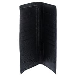 Dolce & Gabbana Black Leather Logo Plaque Long Wallet