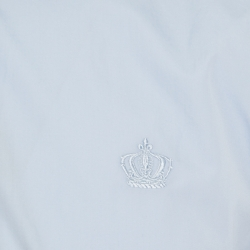 Dolce and Gabbana Gold Blue Crown Logo Embroidered Button Down Shirt L