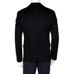 Dolce & Gabbana Black Cashmere Tailored Blazer IT 48