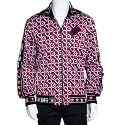 Dolce & Gabbana Multicolor DG Mania Print Technical Jersey Zip-Up Sweatshirt IT 50