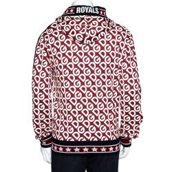 Dolce & Gabbana Multicolor DG Mania Print Cotton DG King Hooded Sweatshirt IT 48
