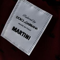Dolce & Gabbana Burgundy Wool Martini Fit Tailored Jacket IT 50