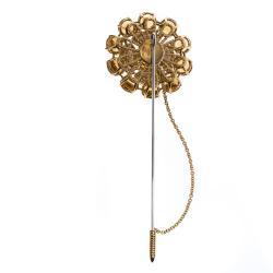 Dolce & Gabbana Multi Gemstone 18k Yellow Gold Pin Brooch