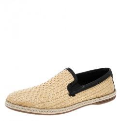 Dolce & Gabbana Beige Jute Espadrilles Size 43