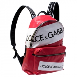 Dolce and Gabbana Multicolor Coated Canvas Vulcano Tape Backpack