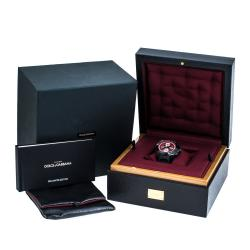 Dolce & Gabbana Red/Black PVD Coated Stainless Steel DS5 Men's Wristwatch 44 mm