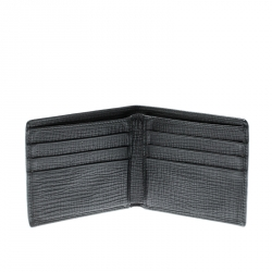 Dolce & Gabbana Black Man Patch Leather Bifold Wallet