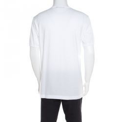 Dolce and Gabbana White Cotton DG Heaven Crew Neck T-Shirt L