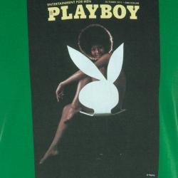Dolce and Gabbana Green Playboy Print Vintage Finish T-Shirt L