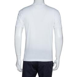 Dolce & Gabbana White Cotton Panda King Print T-Shirt M