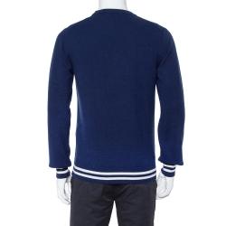 Dolce & Gabbana Navy Blue Crown Logo Cashmere Jumper M