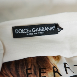 Dolce & Gabbana Off-White Cotton Bryan Ferry Album Print Crewneck T-Shirt XXL