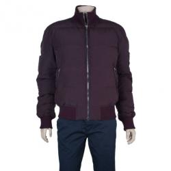 Dolce and Gabbana Maroon Puffer Jacket L