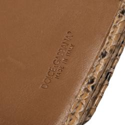 Dolce and Gabbana Multicolor Python Flap Wallet