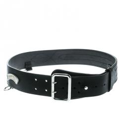 DSquared2 Black Leather Buckle Belt Size 100 CM