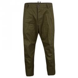 2d18ea39e70 Dsquared2 Khaki Green Cotton Cropped Pants XXL