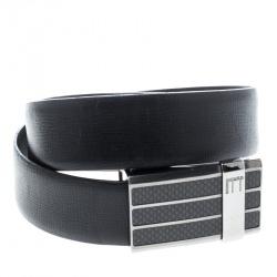 Dunhill Black Leather Reversible Buckle Belt 107cm
