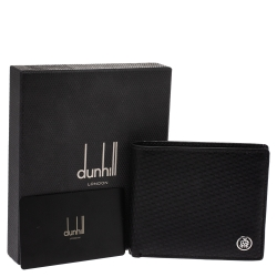 Dunhill Black Chassis Leather Bifold Wallet