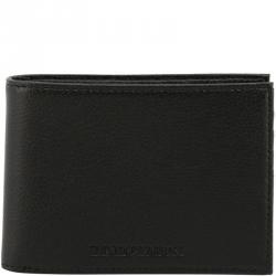 Emporio Armani Black Leather Bifold Wallet