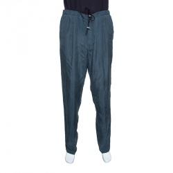 Emporio Armani Grey Elasticized Waist Drawstring Detail Pants 3XL