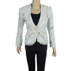 Emporio Armani Lace Textured Jacket S
