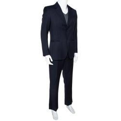 Emporio Armani Navy Blue Wool Napoli Line Suit M