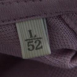 Ermenegildo Zegna Purple Perforated Striped Cotton Knit Short Sleeve Polo T-Shirt L