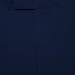 Ermenegildo Zegna High Performance Navy Blue Wool Silk Slim Fit Trousers L