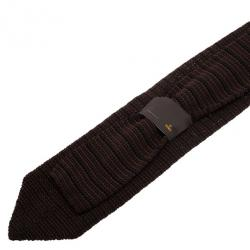 Fendi Brown Woven Silk Tie